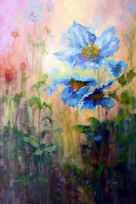 Marie Green Painting - Himalyan Poppies by Marie Green