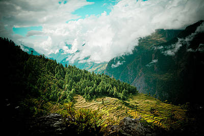 Himalyas Forest And Clouds Art Print