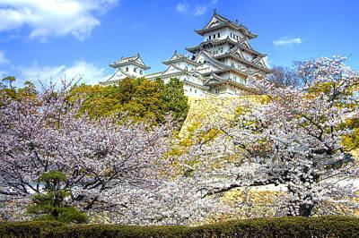 Himeji Castle In Spring Time Art Print by Ilin Wu