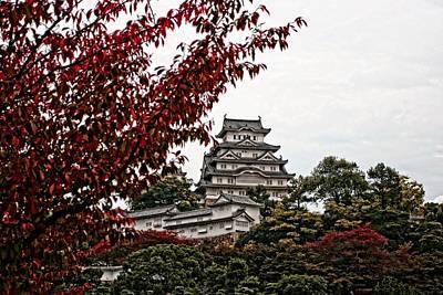 Himeji Castle In The Fall Art Print by Priscilla De Mesa
