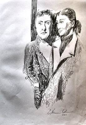 Drawing - Hinda And Gittel Before The War by Esther Newman-Cohen