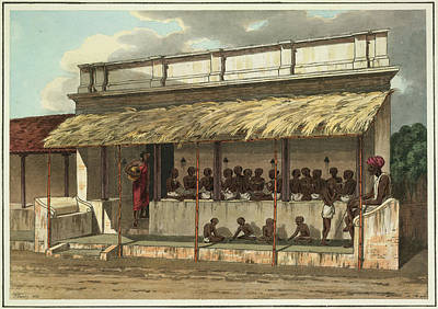 Illustration Technique Photograph - Hindoo School by British Library