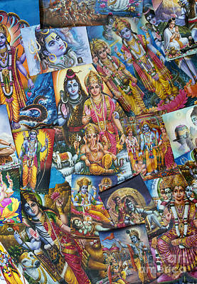 Shiva Photograph - Hindu Deity Posters by Tim Gainey