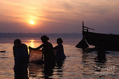 Photograph - Hindu Faithful  Bath In The Ganges by Craig Lovell