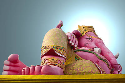 Hindu God Ganesh Statue In Thailand Original by Singkam Chanteb