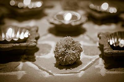 Hindu Marigold Happy New Year Art Print by Kantilal Patel