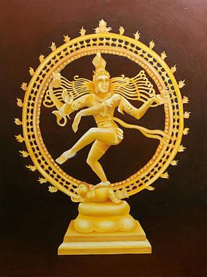 Nataraja Painting - Hindu Nataraja Shiva Painting by Graham Browne