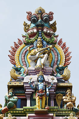 Hindu Temple Gopuram India Art Print by Tim Gainey