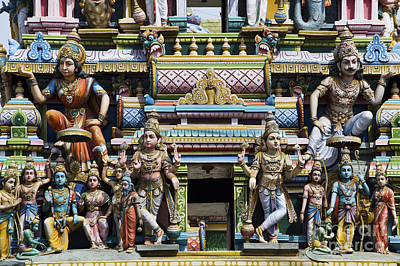 Hindu Temple Gopuram Statues Art Print by Tim Gainey