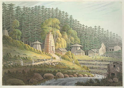 Illustration Technique Photograph - Hindu Temples by British Library
