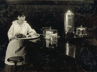South Boston Painting - Hine Waitress, 1917 by Granger