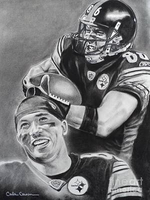 Drawing - Hines Ward Of The Pittsburgh Steelers by Carla Carson