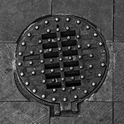 Hinged Manhole Cover Art Print by Lynn Palmer