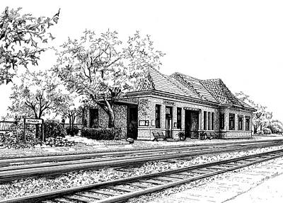 Hinsdale Train Station Original by Mary Palmer
