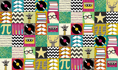 Hip Hip Geek Art Print by Sharon Turner