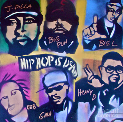 First Amendment Painting - Hip Hop Is Dead 2 by Tony B Conscious