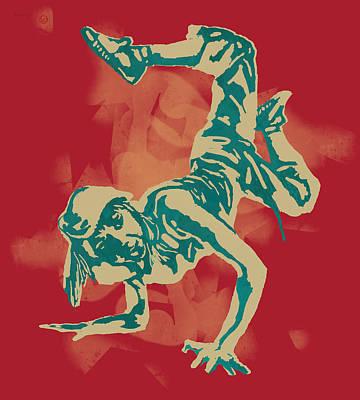 Hop Mixed Media - Hip Hop Street Dancing  Pop Art Poster by Kim Wang