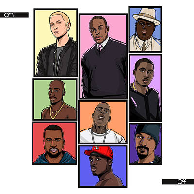 Jay Z Digital Art - Hiphop Legends by Akyanyme