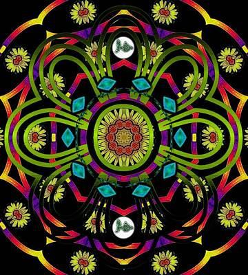 Namaste Mixed Media - Hippie Mandala by Pepita Selles