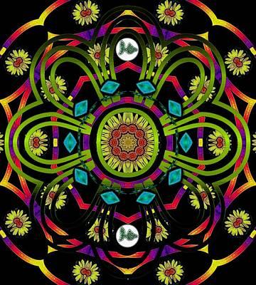 Hippie Mandala Art Print