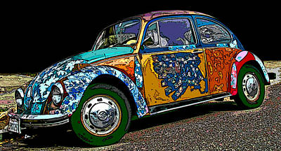 Photograph - Hippie Vw Bug by Samuel Sheats