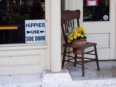 Discrimination Photograph - Hippies Use Side Door by Louise Heusinkveld
