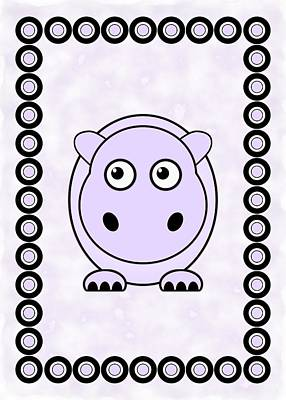 Digital Art - Hippo - Animals - Art For Kids by Anastasiya Malakhova