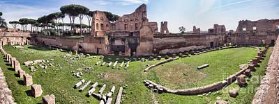 Hippodrome Stadium Of Domitia Palatine Hill Rome Print by Frank Bach