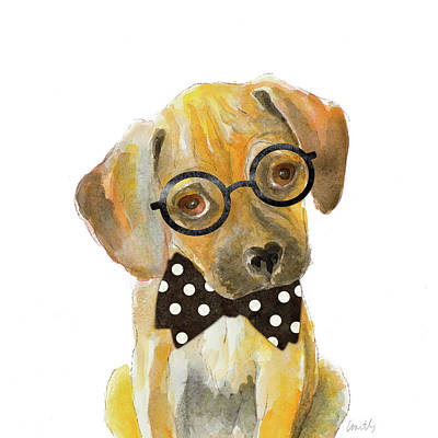 Hipster Retriever Puppy Art Print by Lanie Loreth