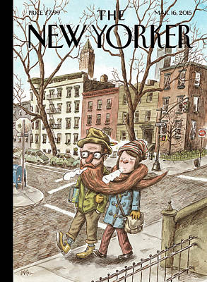 Cities Painting - Hipster Stole by Ricardo Liniers