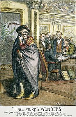 Rhoades Painting - Hiram Revels Cartoon, 1870 by Granger