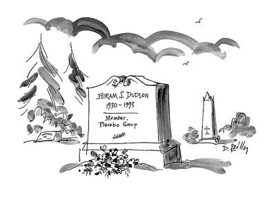 Headstones Drawing - Hiram S. Dudson by Donald Reilly