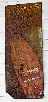 Photograph - Hires Root Beer Sign by Paul Mashburn