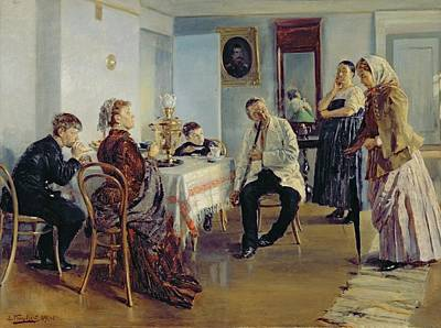 Hiring Of A Maid, 1891-92 Oil On Canvas Art Print by Vladimir Egorovic Makovsky
