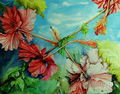Painting - Hiroko's Hibiscus 3 by Rachel Lowry