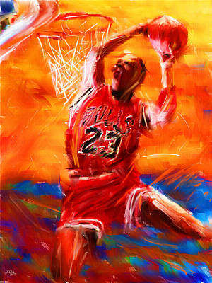 Nba Digital Art - His Airness by Lourry Legarde