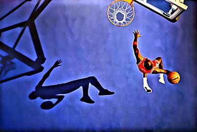 His Airness Michael Jordan Art Print