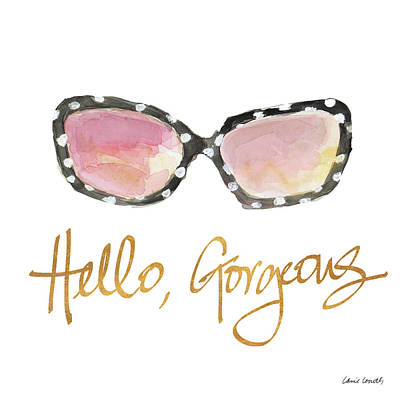 Hello Painting - His And Her Sunglasses I by Lanie Loreth