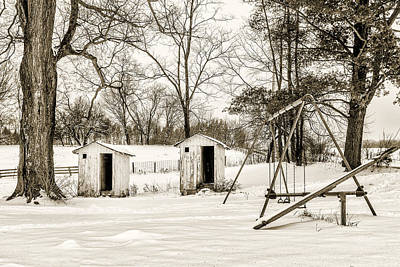 Western Snowfall Photograph - His And Hers by Chris Bordeleau