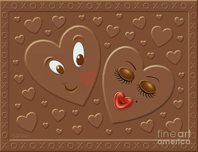 Candy Digital Art - His And Hersheys by Cristophers Dream Artistry