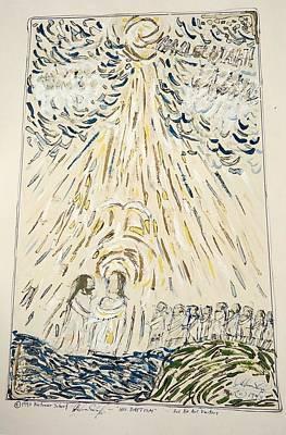 River Jordan Mixed Media - His Baptism by Dietmar Scherf