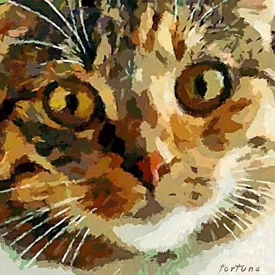 His Eyes Art Print by Dragica  Micki Fortuna