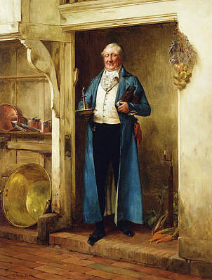 Ethnicity Painting - His Favourite Bin; And Testing by Walter Dendy Sadler