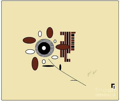Digital Art - His First Flower by Ann Calvo