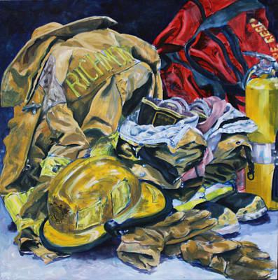 Fire Gear Painting - His Gear by Allison Fox
