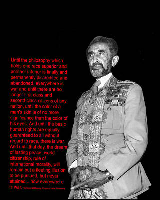 Photograph - His Imperial Majesty Emperor Haile Selassie I  by Errol Wilson