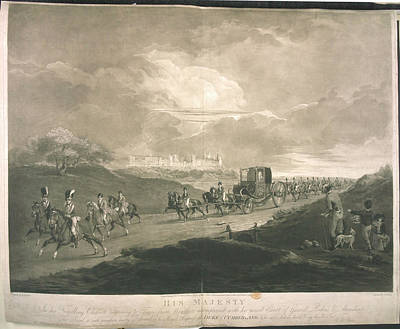 His Majesty In His Travelling Chariot Art Print by British Library
