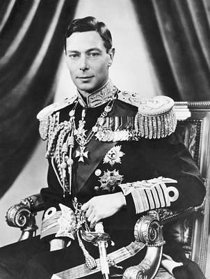 Military Uniform Photograph - His Majesty King George Vi by Underwood Archives