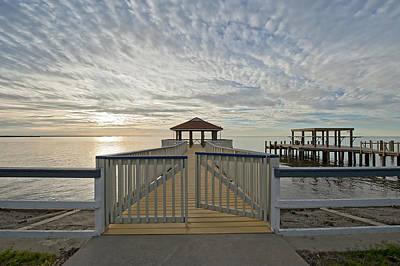 Cypremort Point Pier Photograph - His Mercies Begin Fresh Each Morning by Bonnie Barry