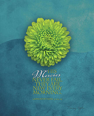 Bible Verse Painting - His Mercies by Tammy Apple